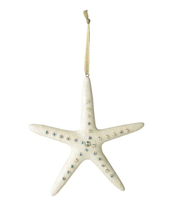 Silver & White Starfish Ornament