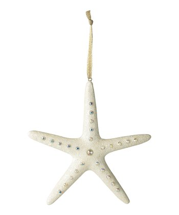 White & Silver Starfish Ornament
