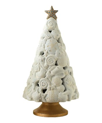 Seashell Christmas Tree Figurine
