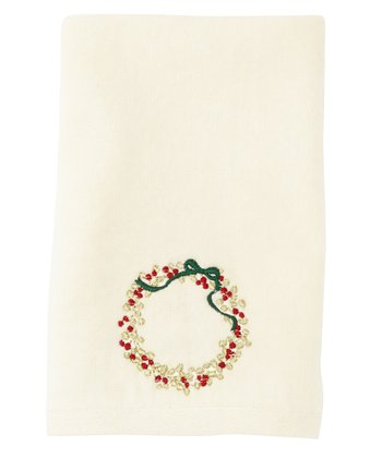 Wreath & Berries Face Towel