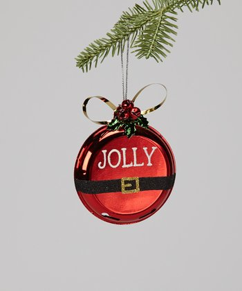 'Jolly' Santa Belt Ornament