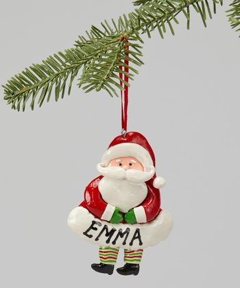 Touching Hands Santa Ornament