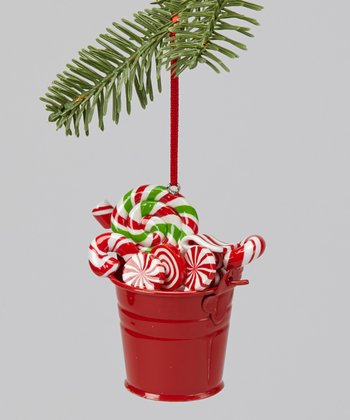 Green Swirl Candy Bucket Ornament
