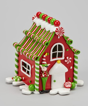 Red LED Gingerbread House