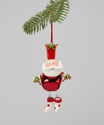 White Boots Santa Ornament