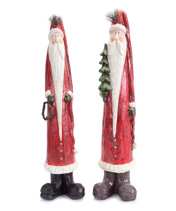 Long Beard Santa Figurine Set