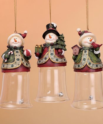 Snowman Bell Ornament Set