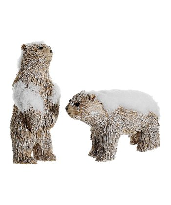 Snowy Sisal Polar Bear Ornament Set