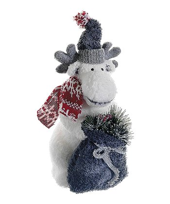 Holiday Moose Figurine