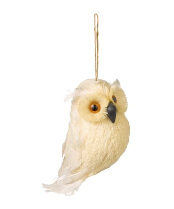 Cream Owl Ornament