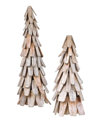 Frosted Wood Tree Set