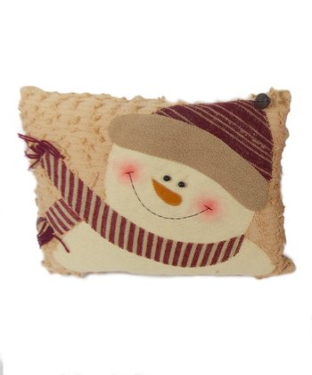 Cream Snowman Pillow Set