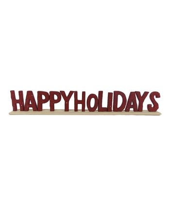 'Happy Holidays' Wood Sign
