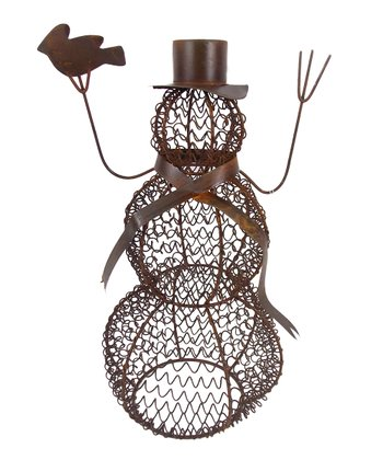 Wire Snowman Ornament