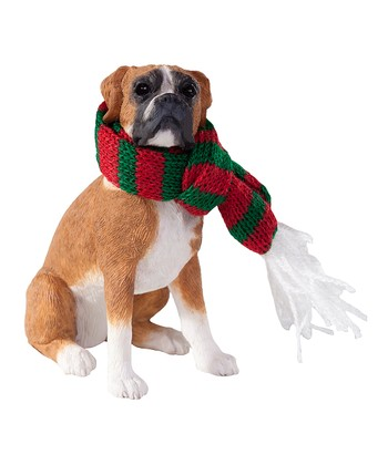 Scarf Boxer Ornament