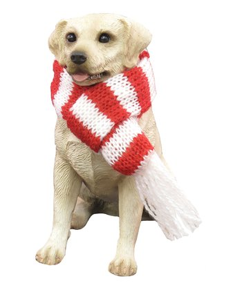 Scarf Yellow Lab Ornament