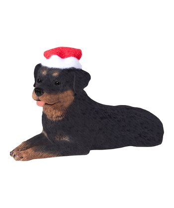 Santa Hat Rottweiler Ornament