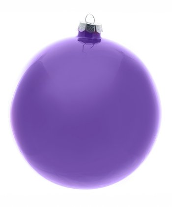 6'' Purple Glass Ornament