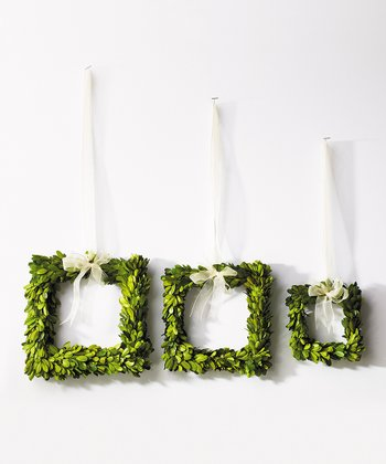 Boxwood Square Wreath Set