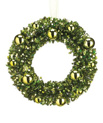 Green Vintage Wreath Ornament