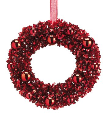Red Vintage Wreath Ornament