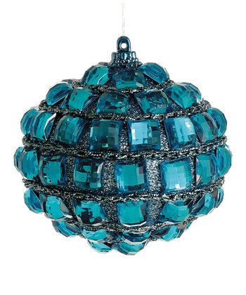 Aqua Jewel Onion Ornament
