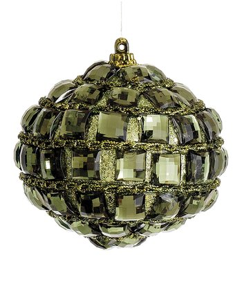Green Jewel Onion Ornament