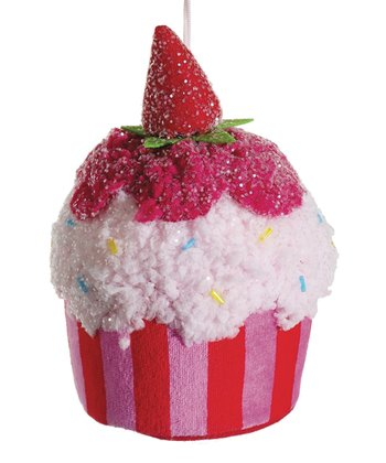 Strawberry Cupcake Ornament