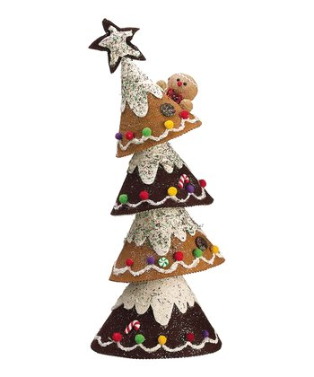 Glitter Gingerbread Tree