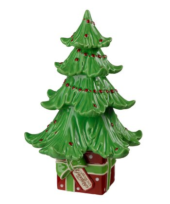 'Season's Greetings' Ceramic Christmas Tree