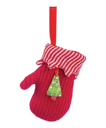 Red Tree Mitten Ornament
