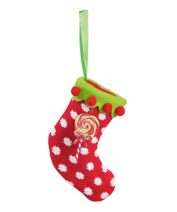 Red Polka Dot Stocking Ornament
