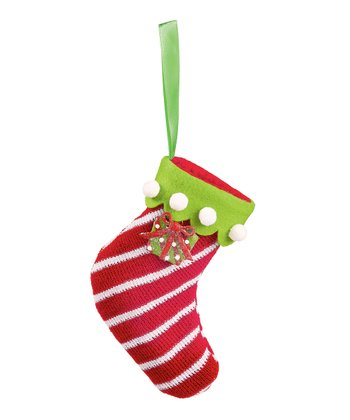 Red Stripe Stocking Ornament