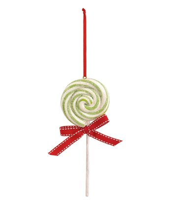 Green Lollipop Ornament