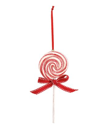 Red Lollipop Ornament