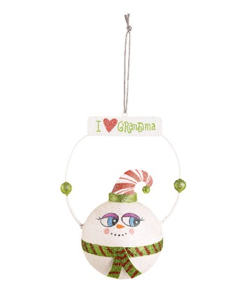 'I Love Grandma' Snowman Ornament