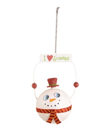 'I Love Snowdays' Snowman Ornament