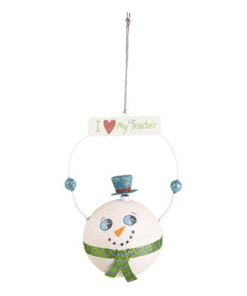 'I Love My Teacher' Snowman Ornament