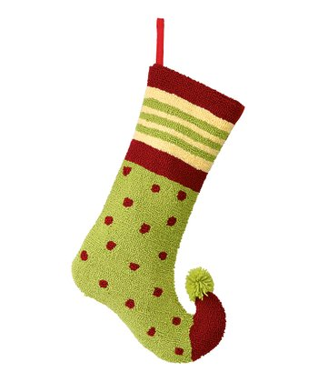 Green & Red Polka Dot Stocking