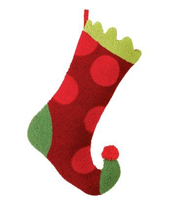 Red Polka Dot Stocking
