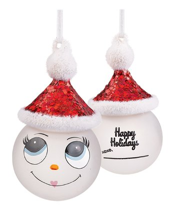 'Happy Holidays' Marker Snowman Ornament
