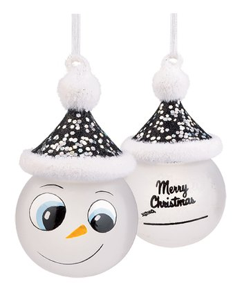 'Merry Christmas' Marker Snowman Ornament