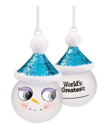 'World's Greatest' Marker Snowman Ornament