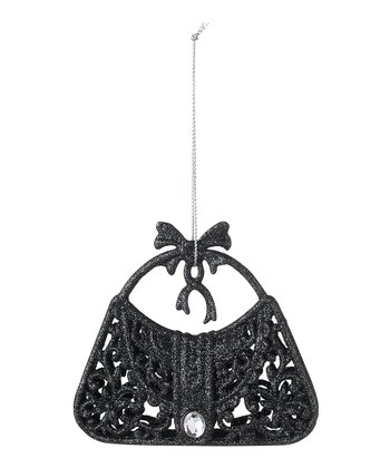 Black Glitter Purse Ornament