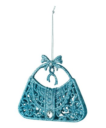 Blue Glitter Purse Ornament