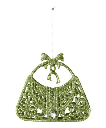 Green Glitter Purse Ornament