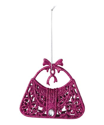 Pink Glitter Purse Ornament