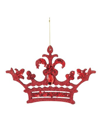 Red Glitter Crown Ornament