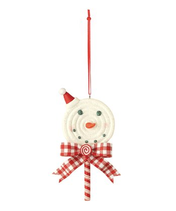 Red Hat Snowman Lollipop Ornament
