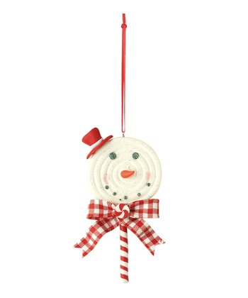 Top Hat Snowman Lollipop Ornament